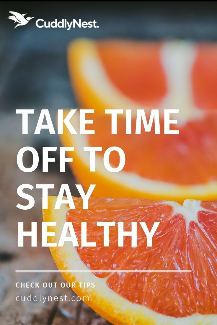 take time off to stay healthy pin