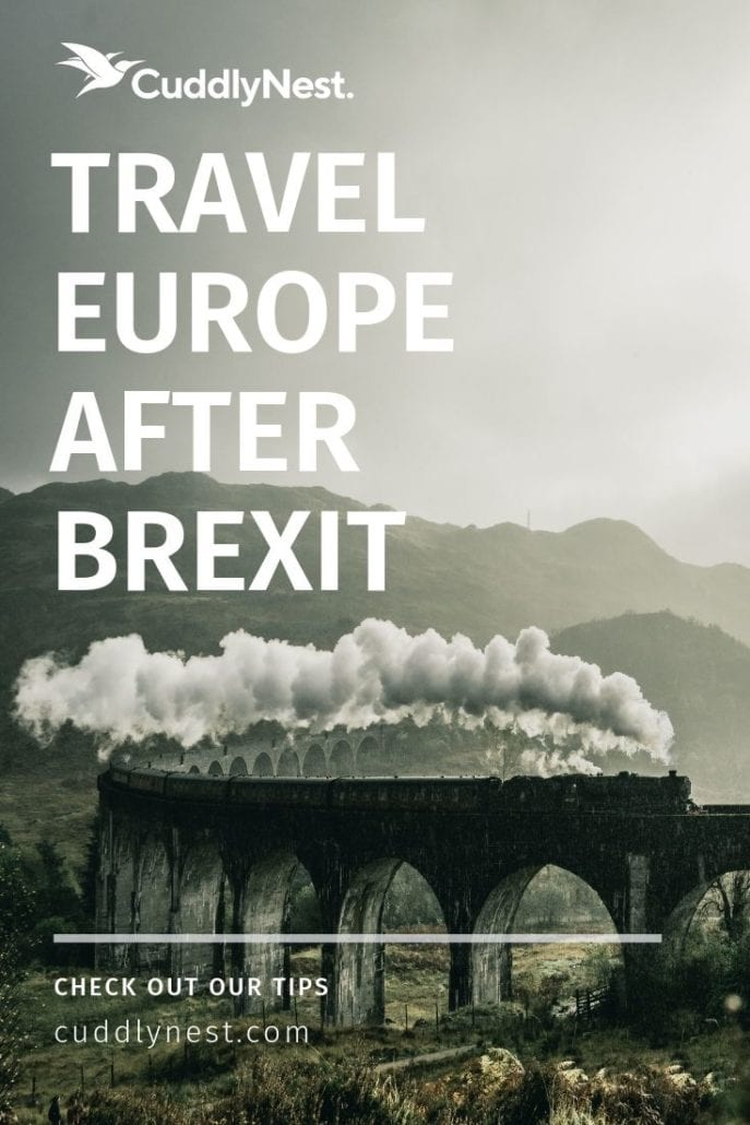 Travel Europe Agfter Brexit Interrail Eurail train and visas