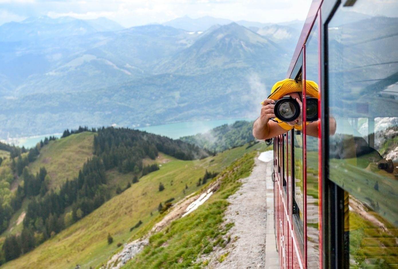 train travel in europe alps austria