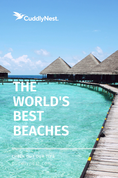 the top 5 beaches in the world pin