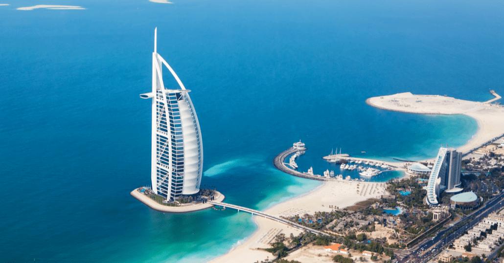 View of Dubai Burj Al Arab