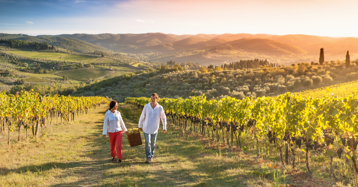 view of couple in napa valley