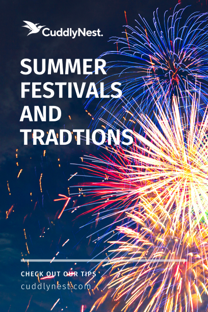 summer traditions and festivals pin