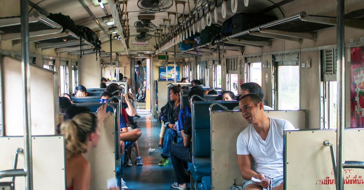 inside in the train