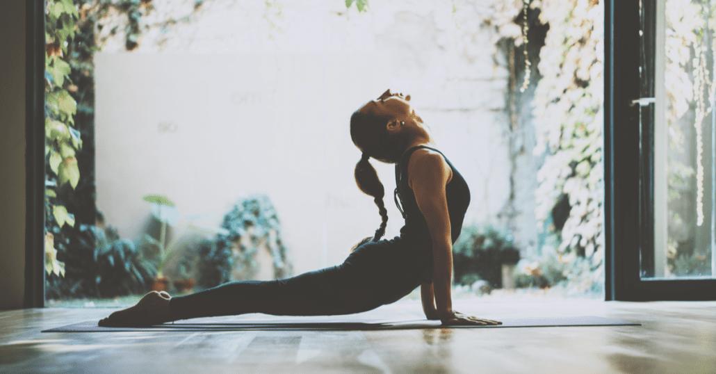 yoga indoors