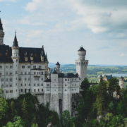 view of neuschwanstein castle in germany