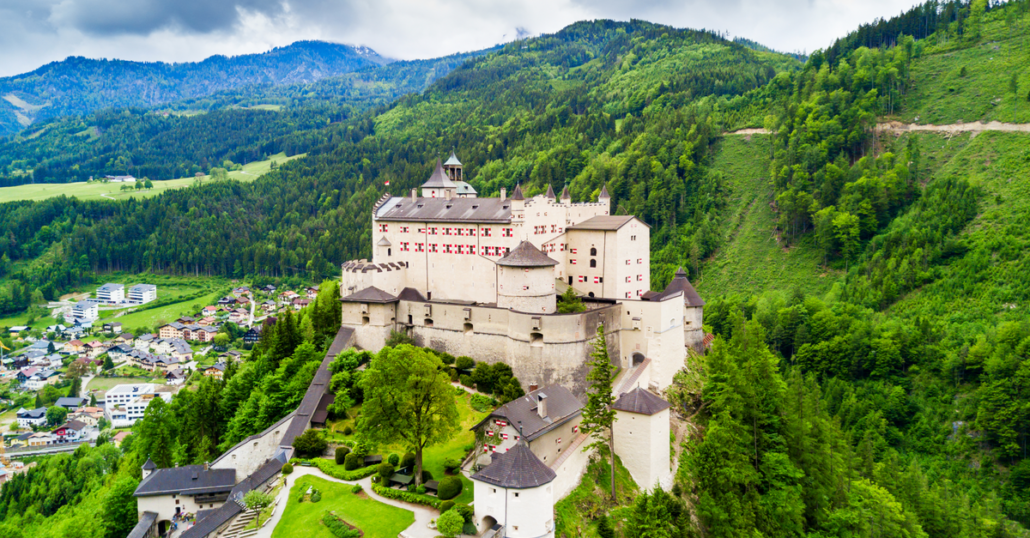 view of Hohenwerfen Castle, Austria
