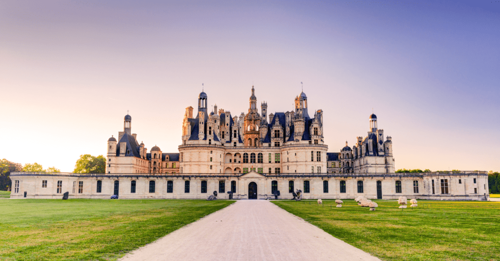 view of Château de Chambord in france