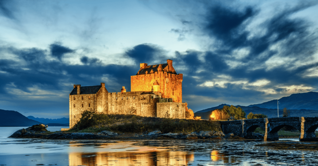 view of eilean donan castle in scotland