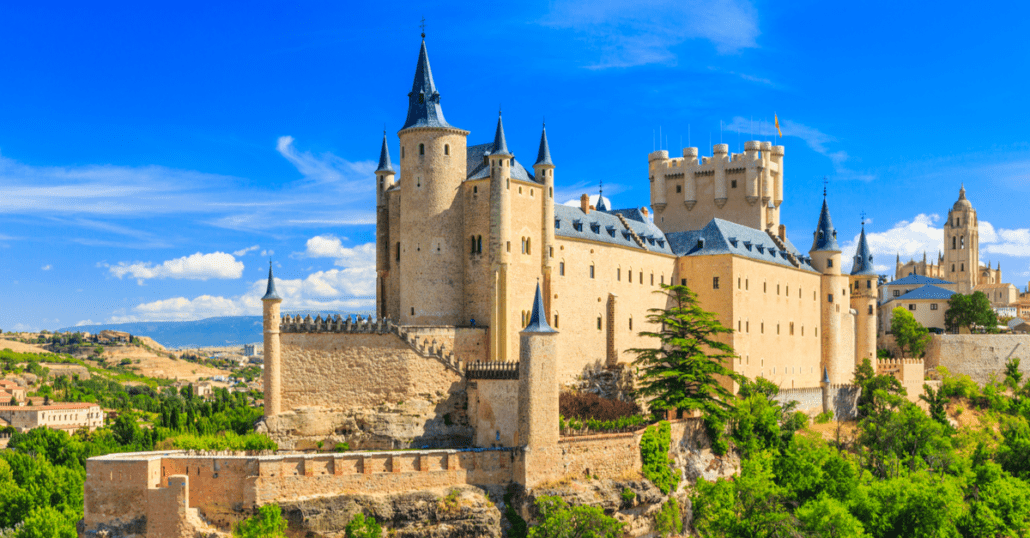 view of the segovia fortress in spain