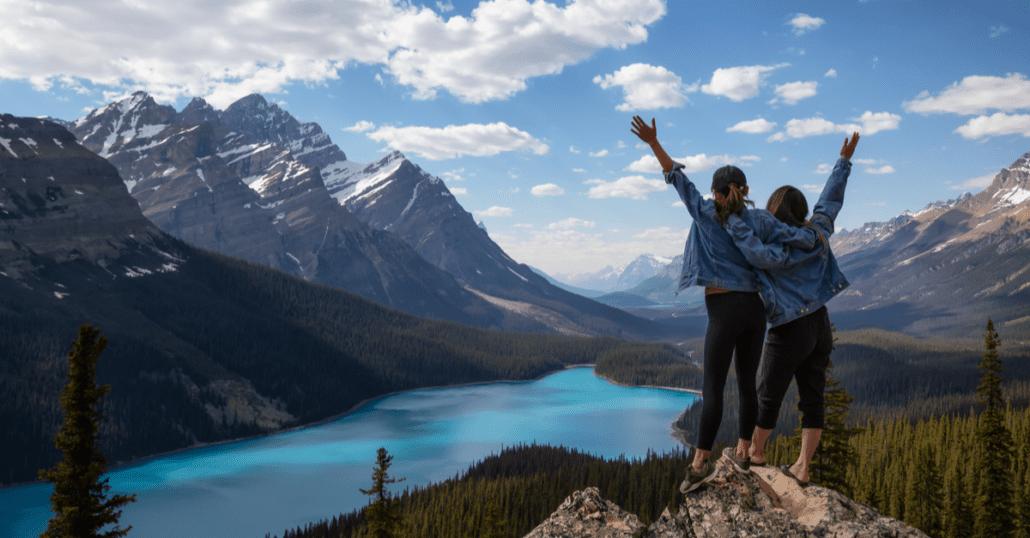 female travel in canada