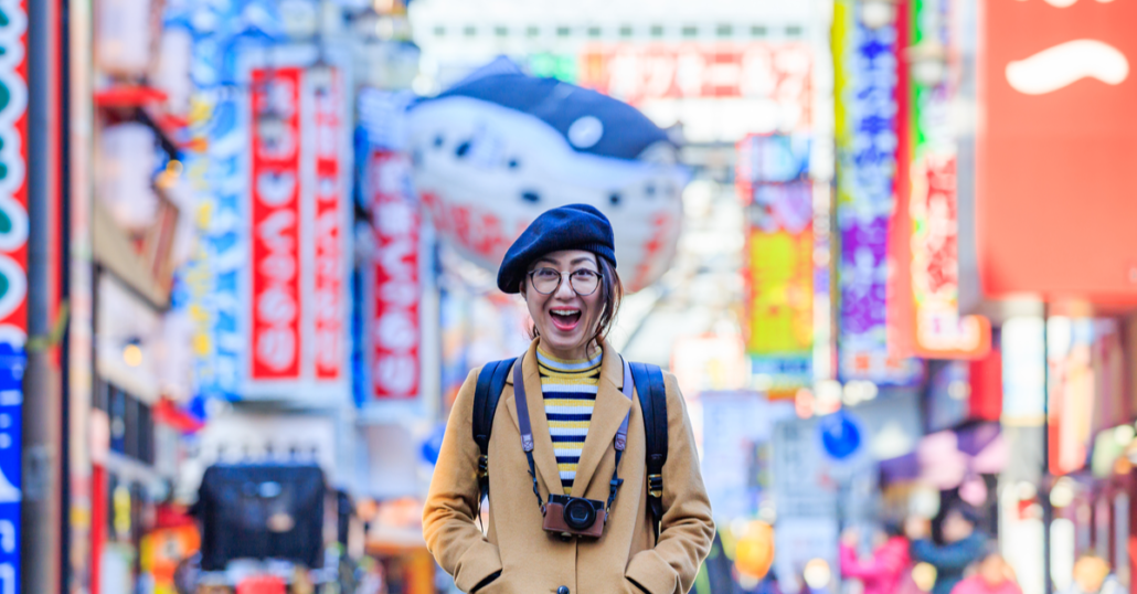 female travel in japan