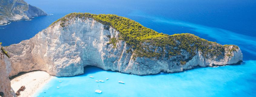 greek beach and island