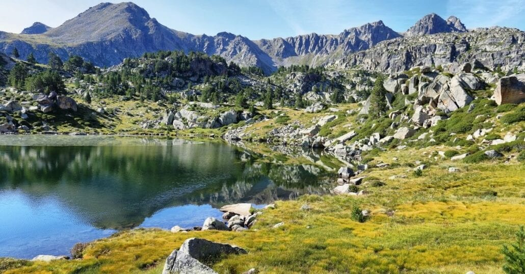 The Mountainous landscape of Andorra.