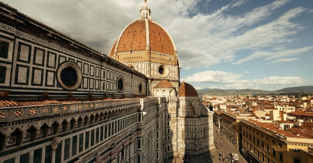The dome of the Florence Cathedral, in Italy.