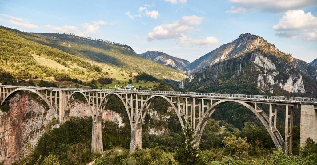 The mountainous landscape of Kosovo.