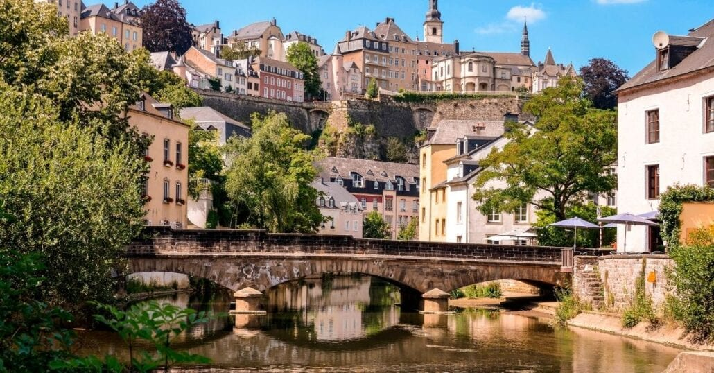 The historic houses of Luxembourg.