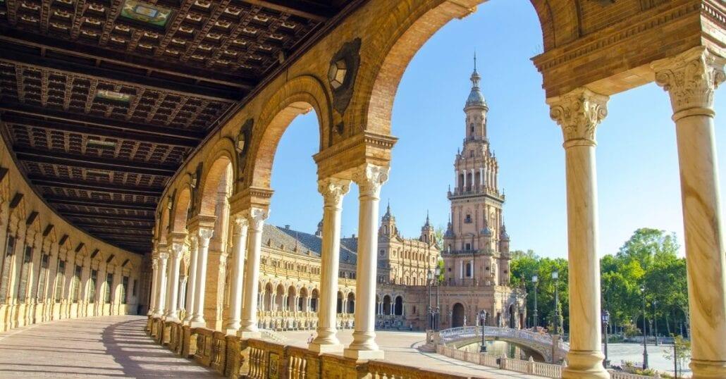 Plaza de España, in Seville.