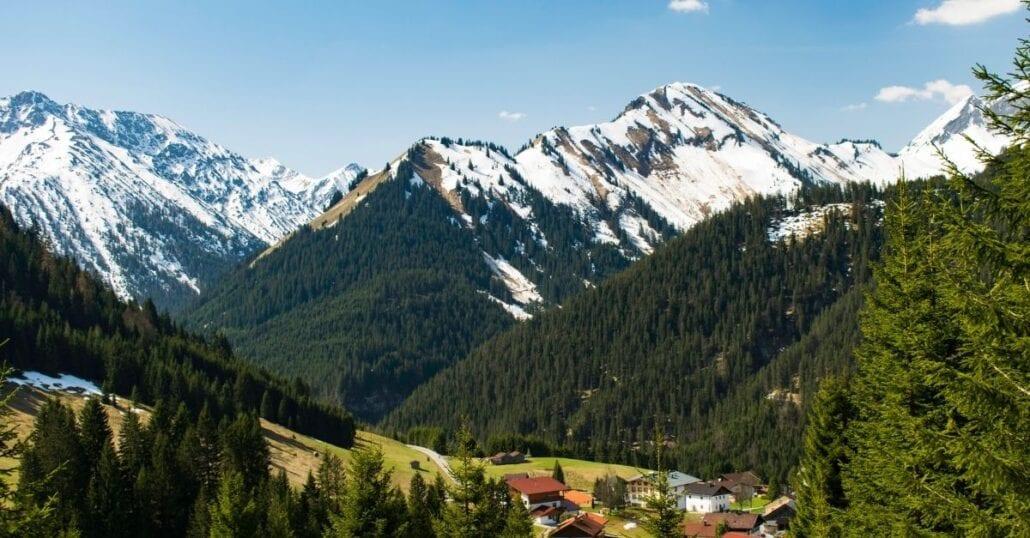 The green-snowy Swiss alps.
