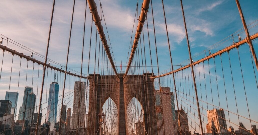 Brooklyn Bridge is one of the outdoor free things to do in NYC