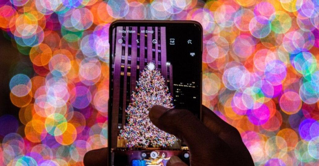 Christmas Tree At Rockefeller Center in NYC in Nov