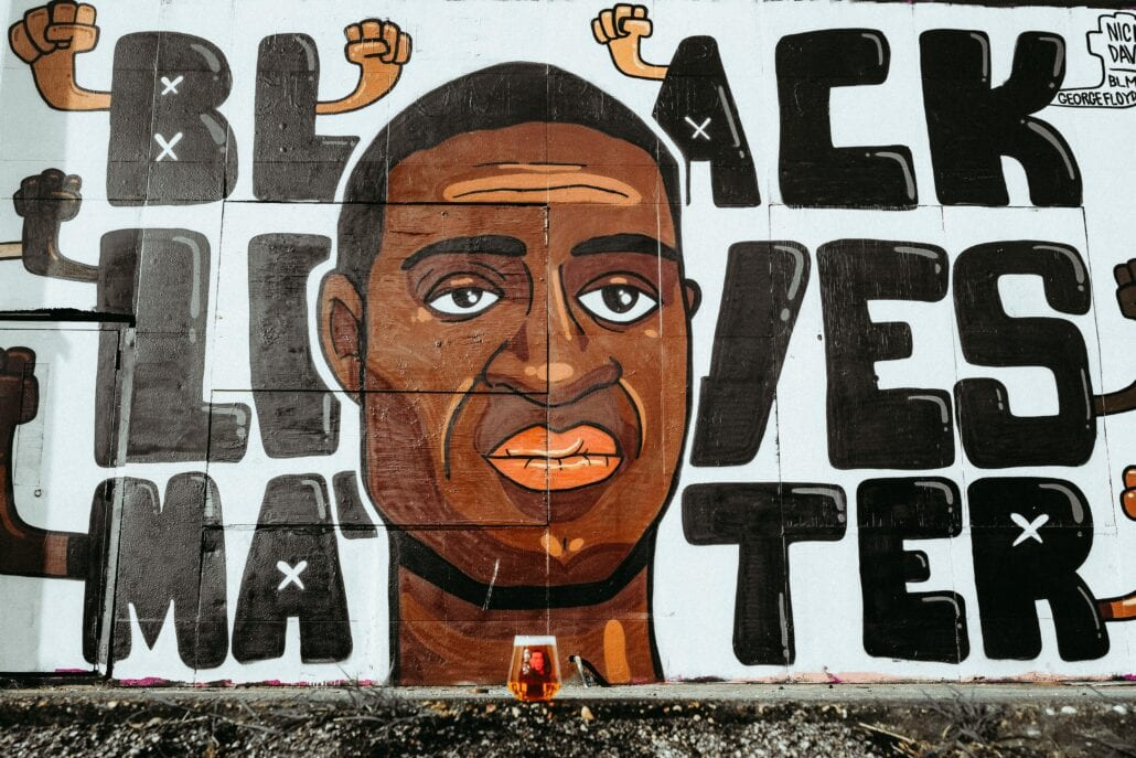 Black Lives Matter mural in United States