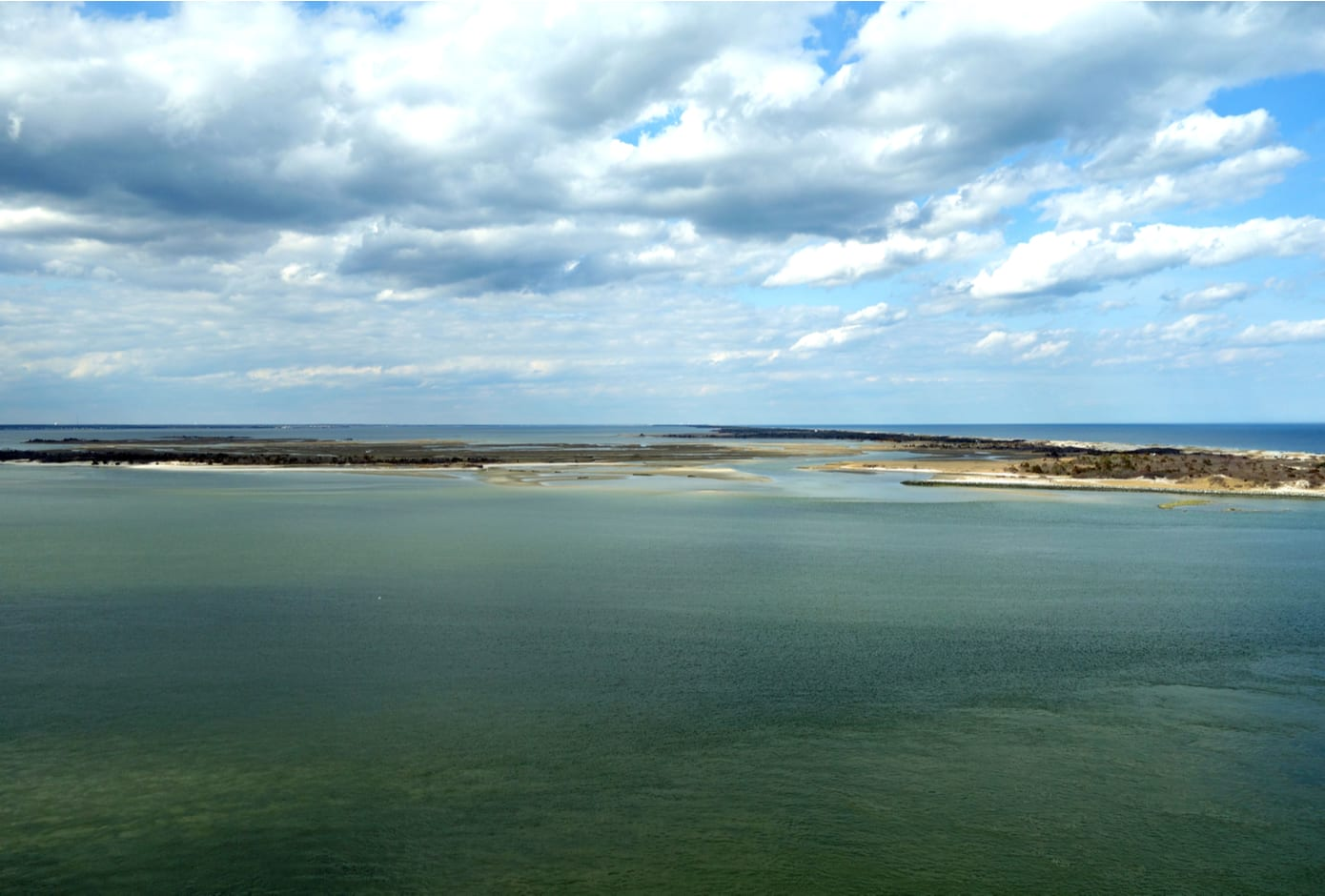 View of the Barnegat State Park located on Long Beach Island, New Jersey.