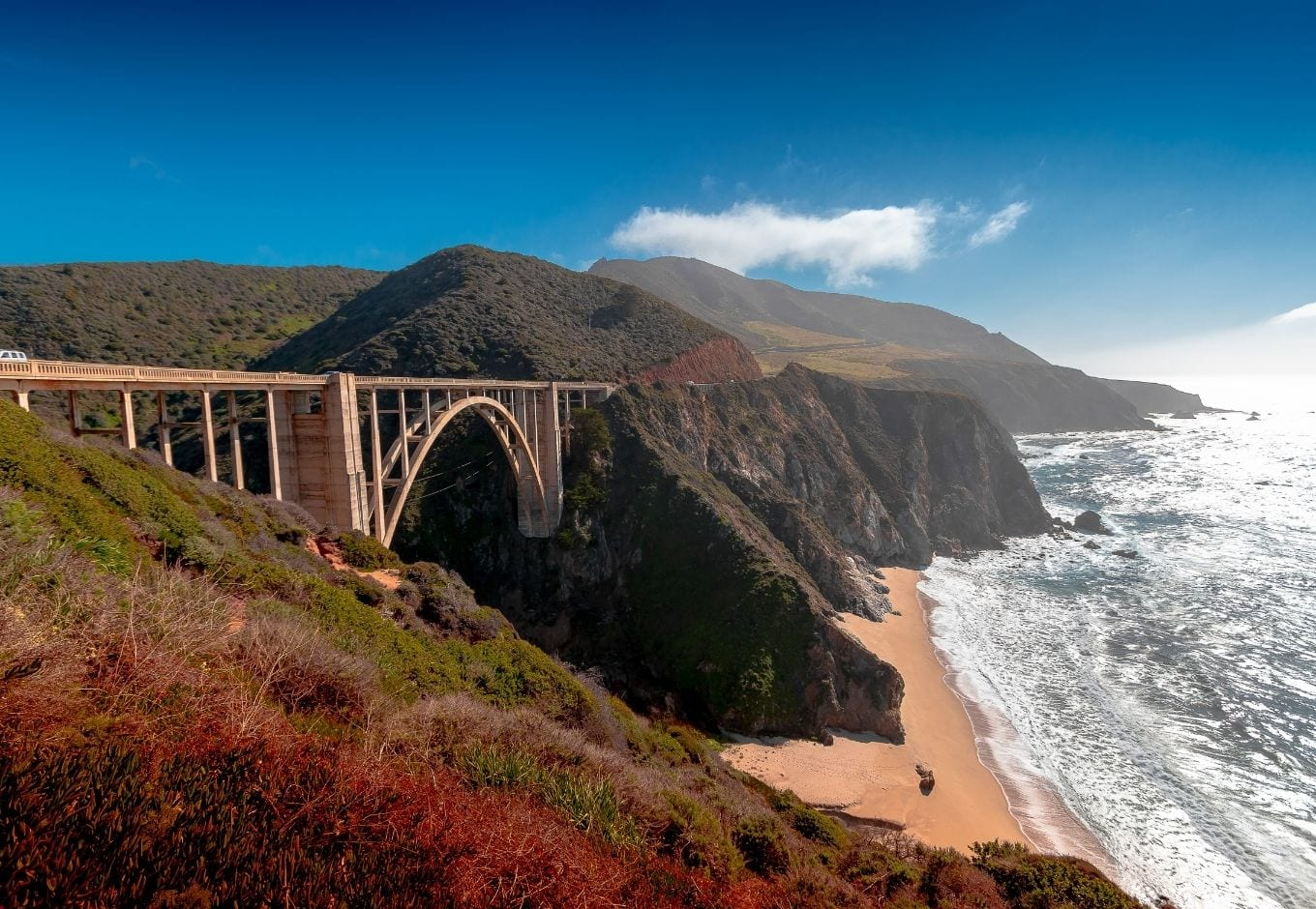 The Big Sur, on the Pacific Coast Highway, in California.