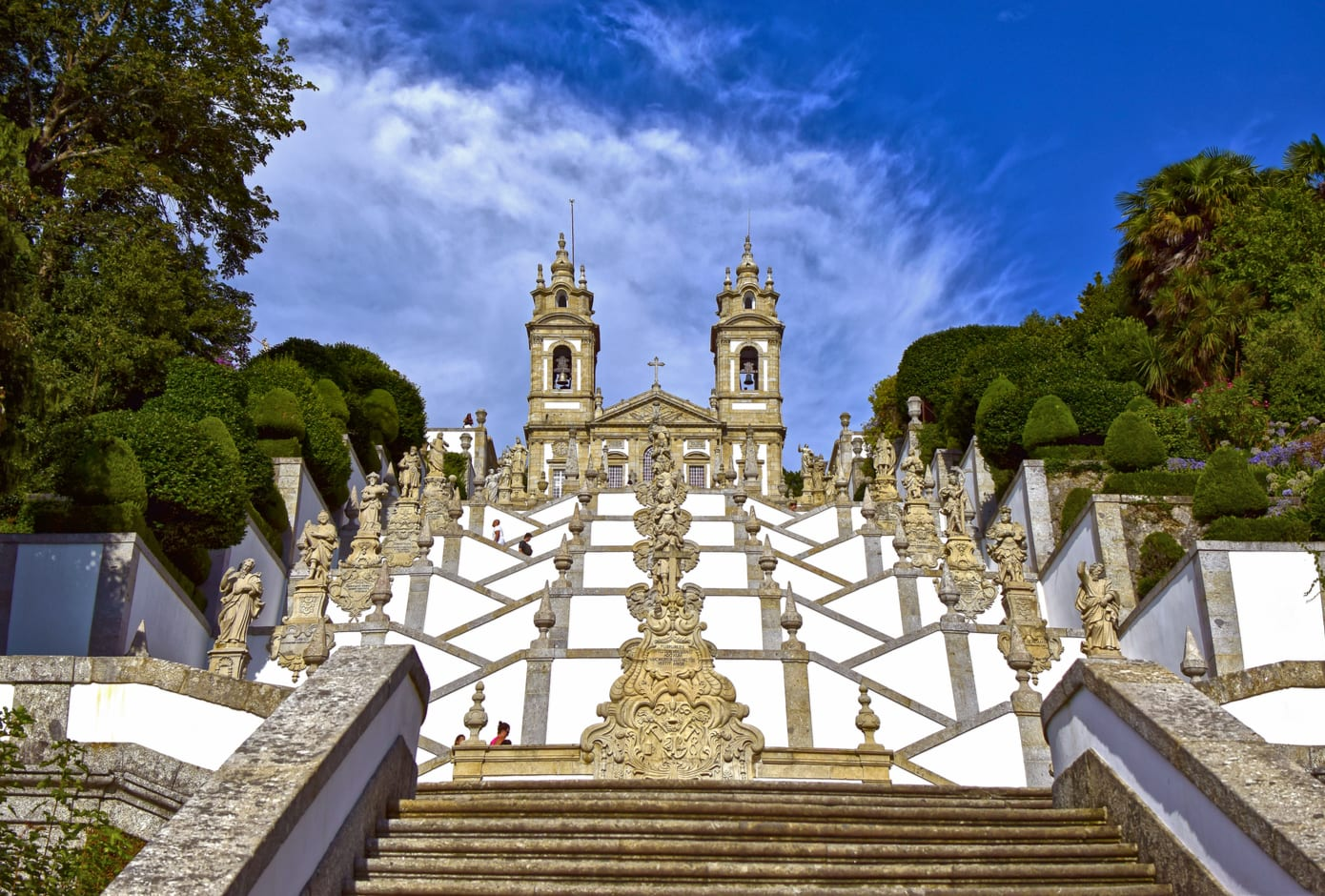 Bom Jesus do Monte Sanctuary located in Braga, Portugal