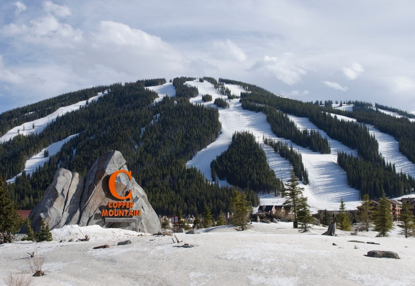 Entrance of the Copper Mountain Ski Resort, in Colorado.