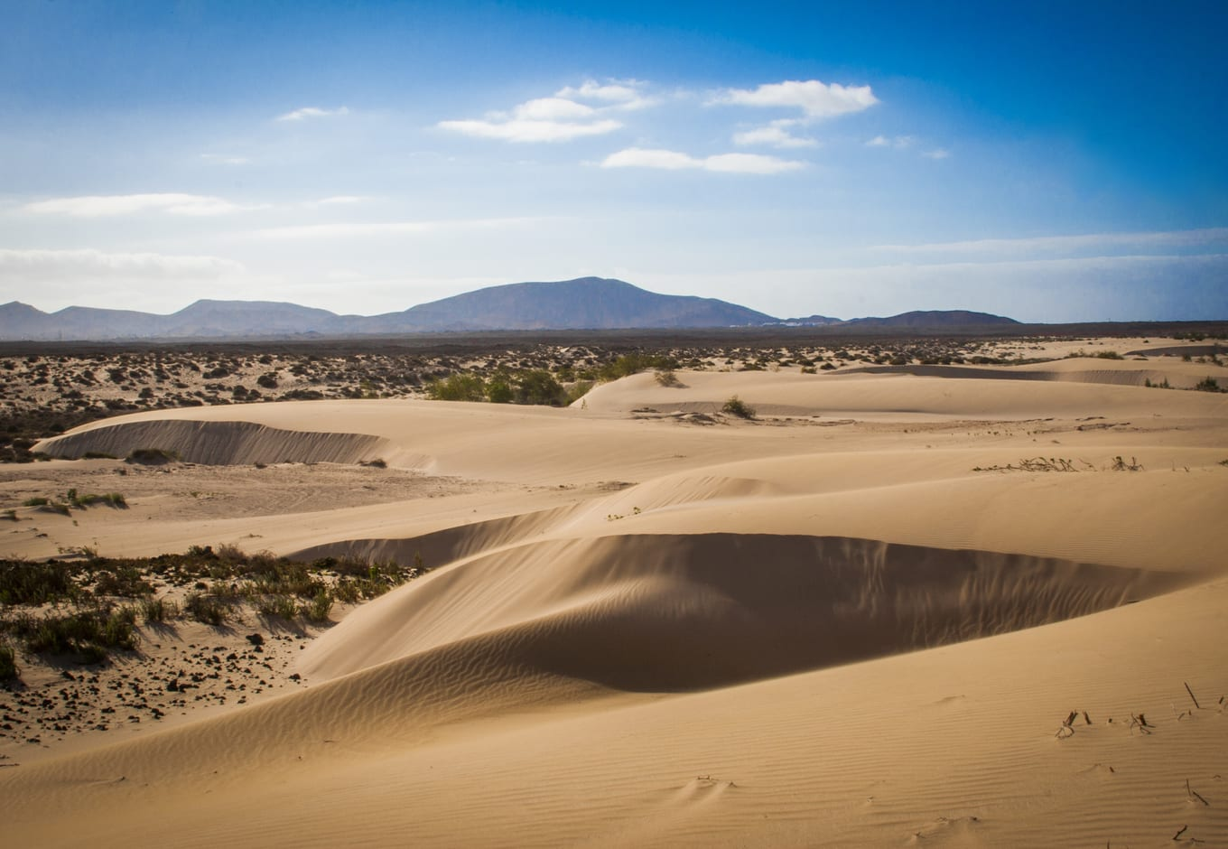 The Sand Dunes at the Corralejo  Park, in the Canary Islands, Spain.