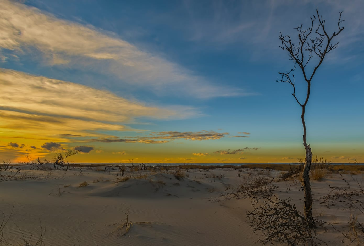 Sunset at the Edwin B. Forsythe National Wildlife Refuge in Long Beach Township, New Jersey