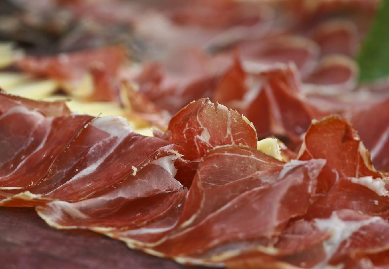 Thin slices of ham.