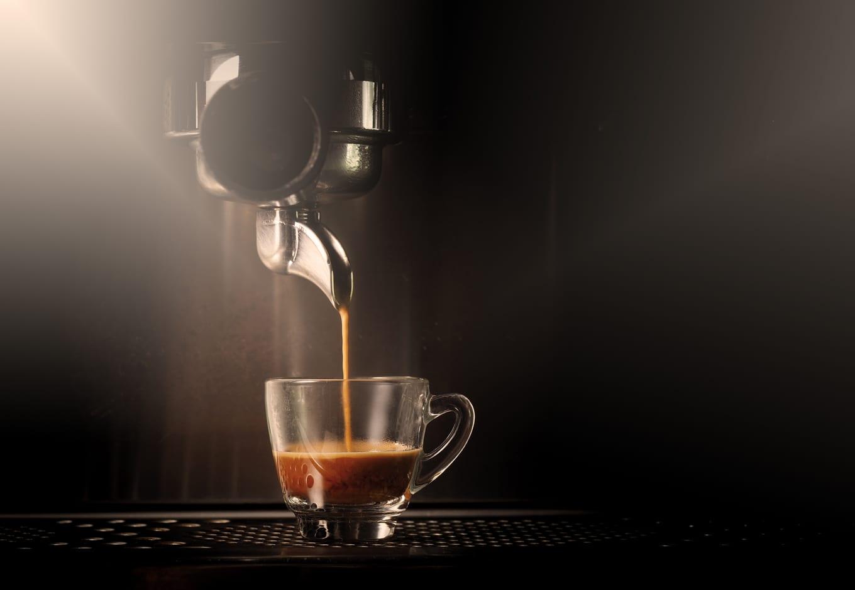 Italian espresso being made.