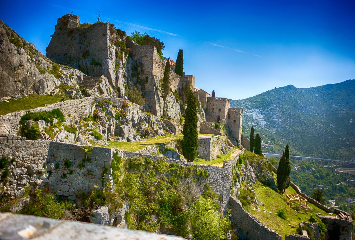 The Klis Fortress, located near Split, in Croatia.