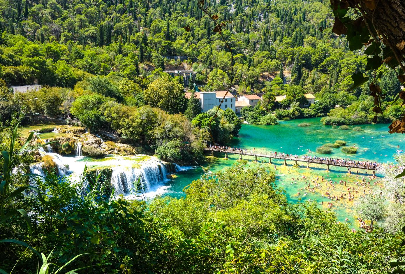 The Krka National Park, in Croatia