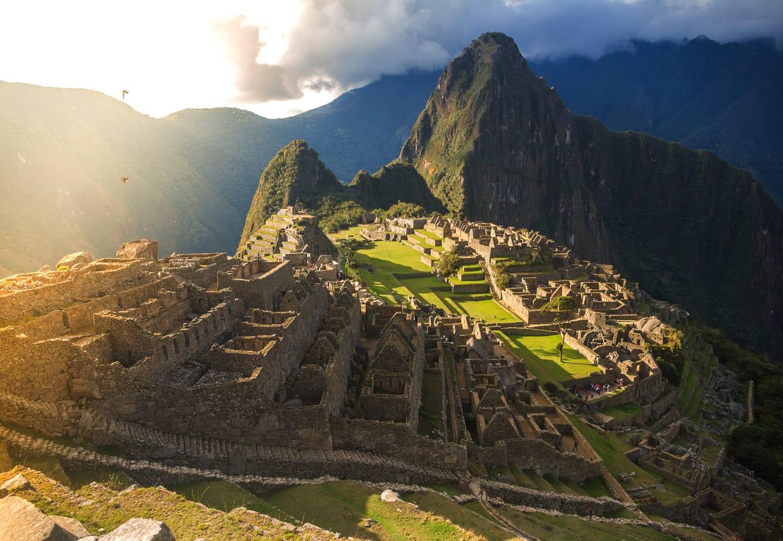 View of Macchu Picchu, in Peru.