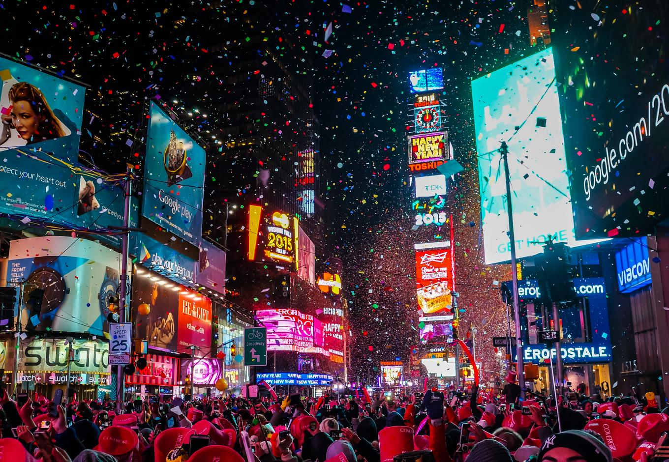 New Year's Eve celebration at the Times Square, in New York City.