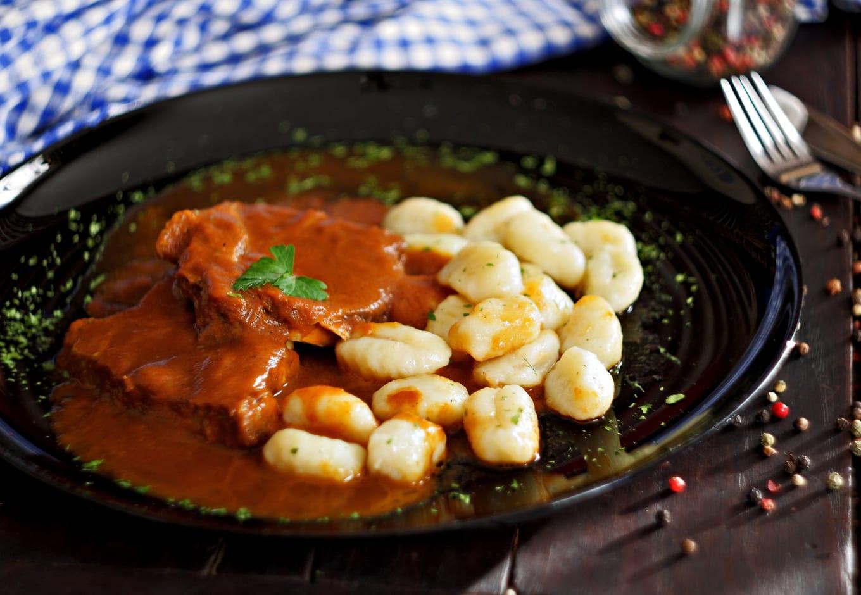 Pasticada with gnocchi.