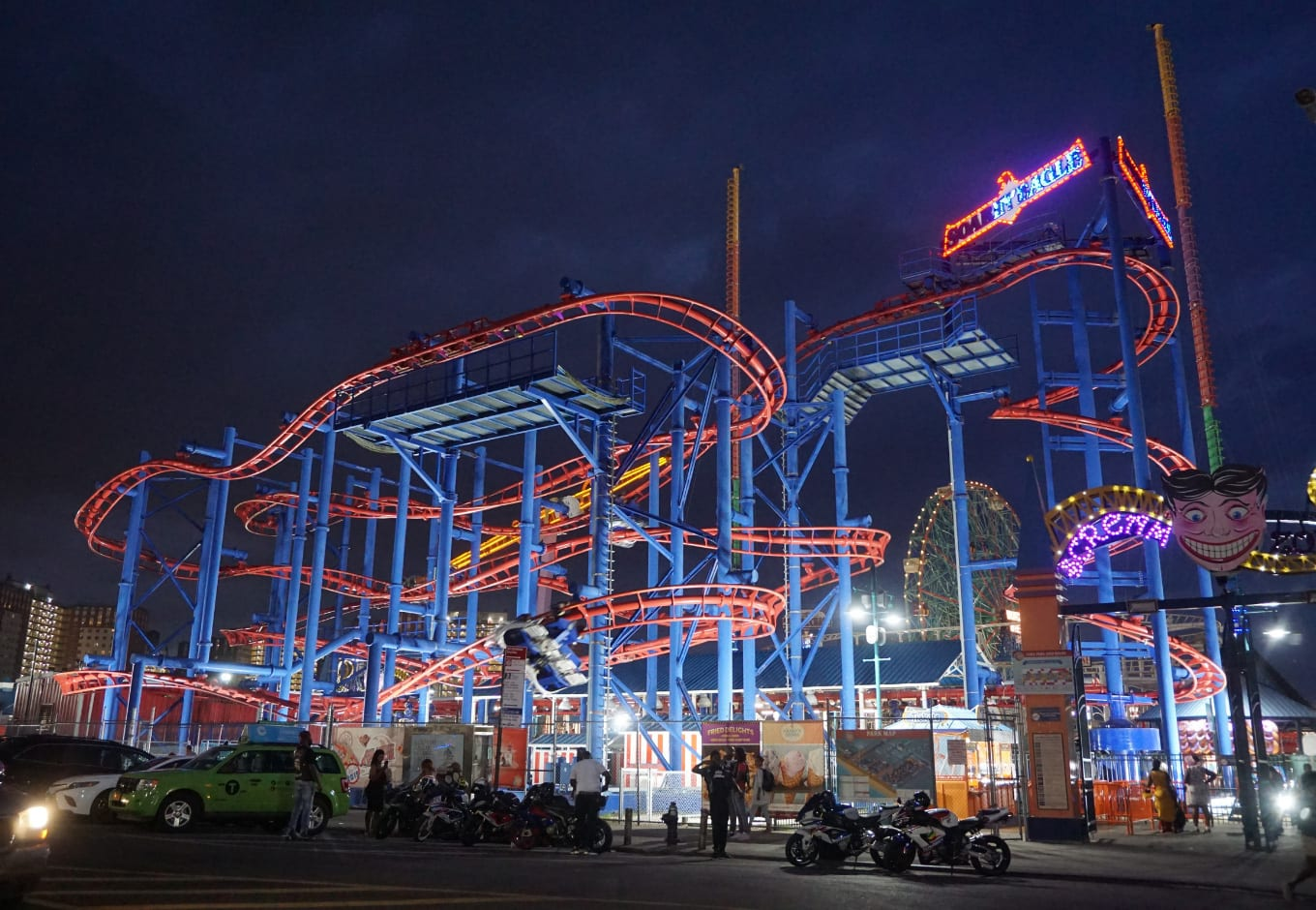 Coney Island during the month of December in holiday season