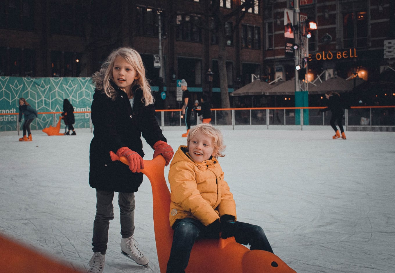 the rink at Brookfield Place in NYC