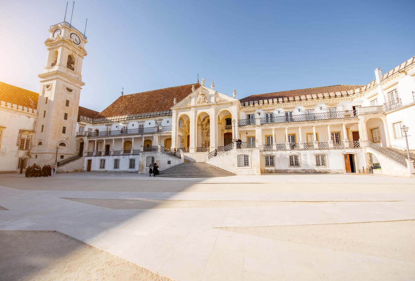 The courtyard of the University of Coimbra, Portugal