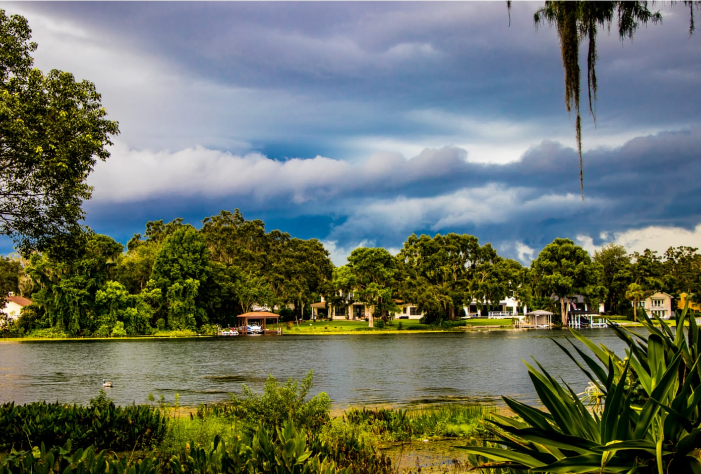View of the Kraft Gardens in Winter Park, Florida.
