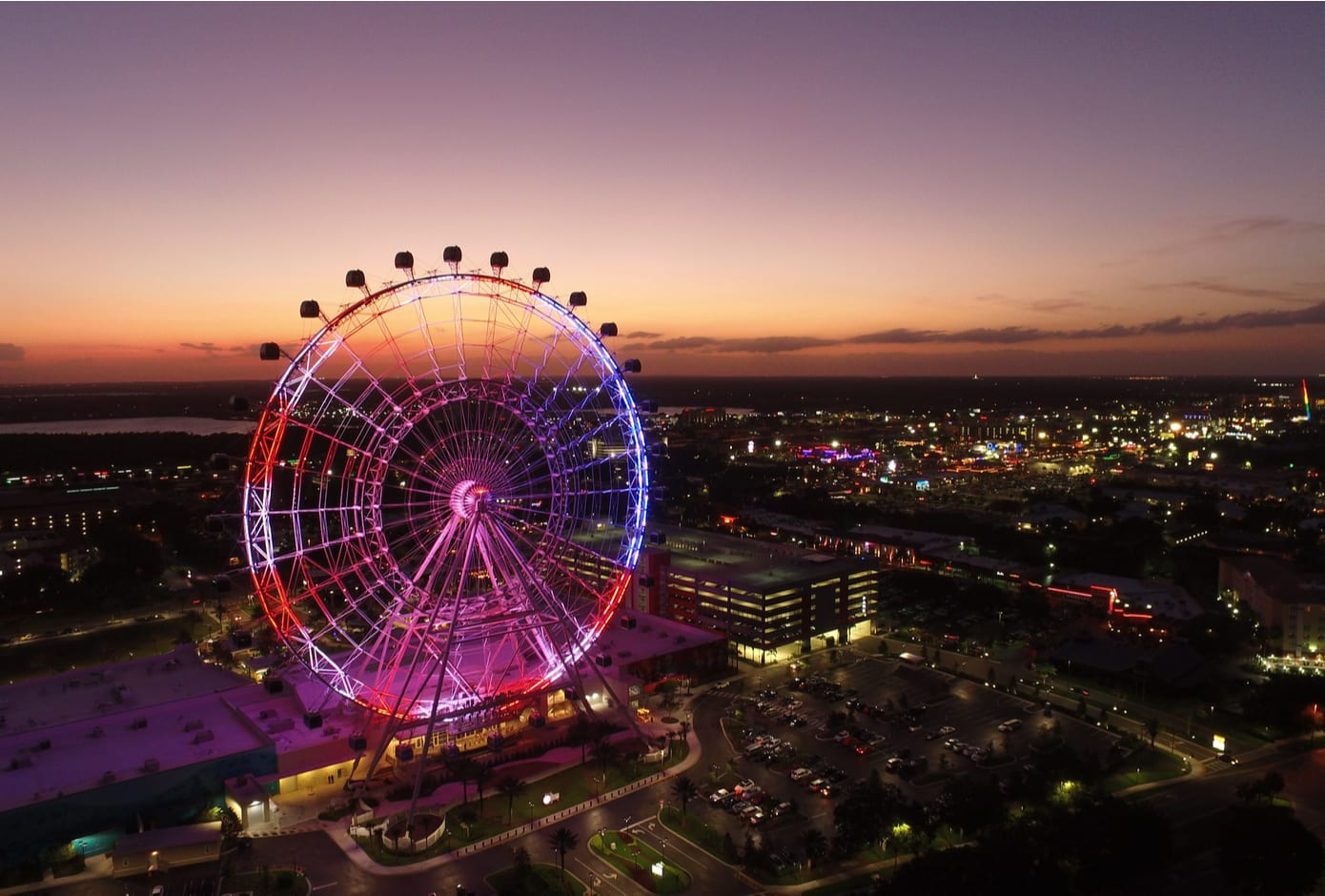 The Orlando Eye Wheel at ICON Park.