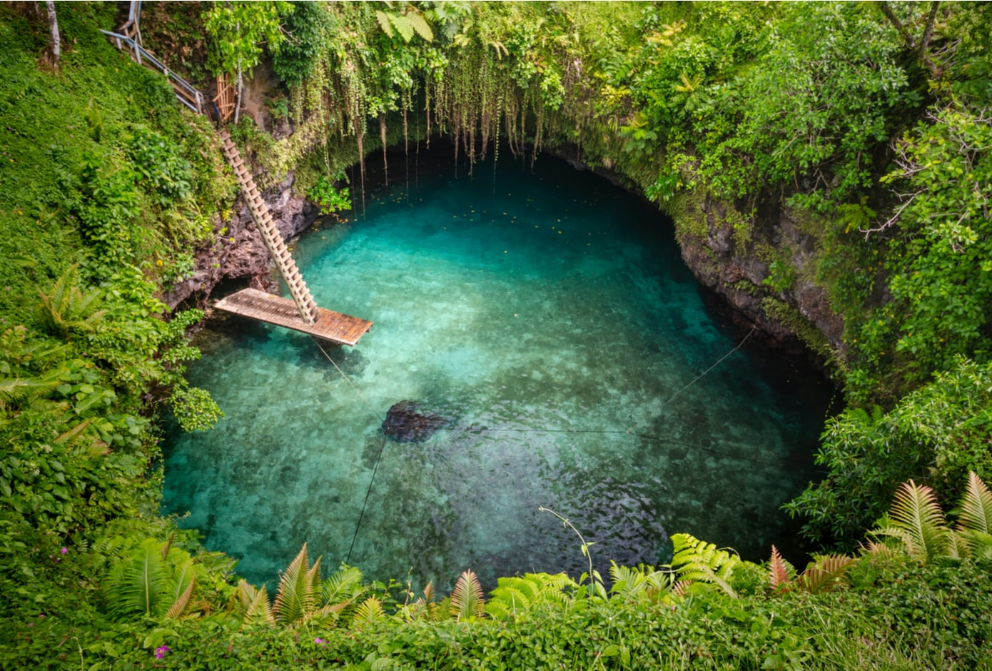 To-Sua Ocean Trench, in Samoa.