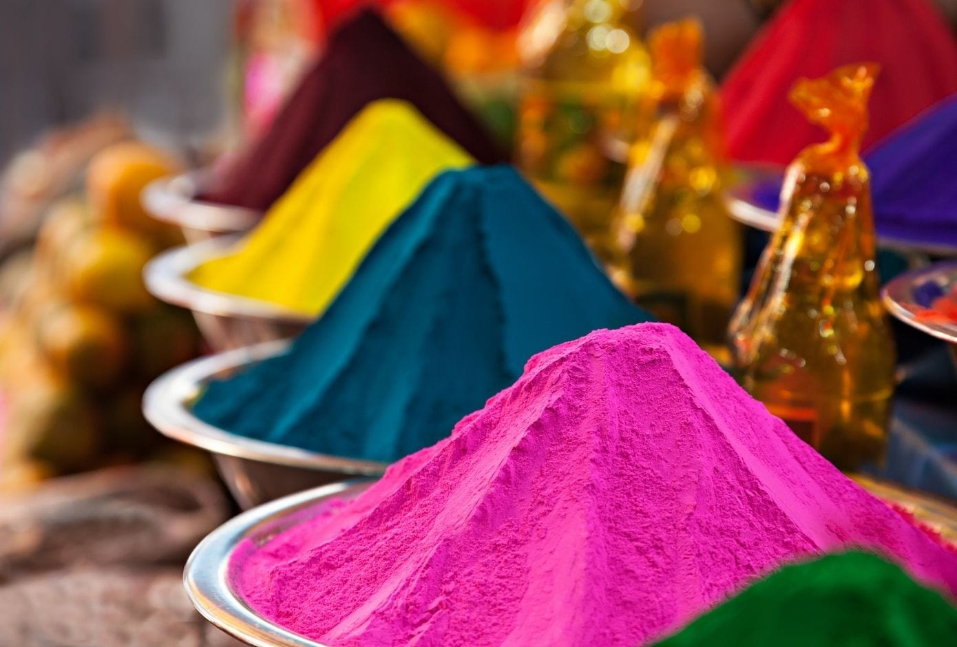 holi travel guide color powders