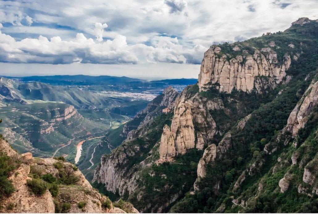 The mighty Montserrat mountain near Barcelona, Spain.